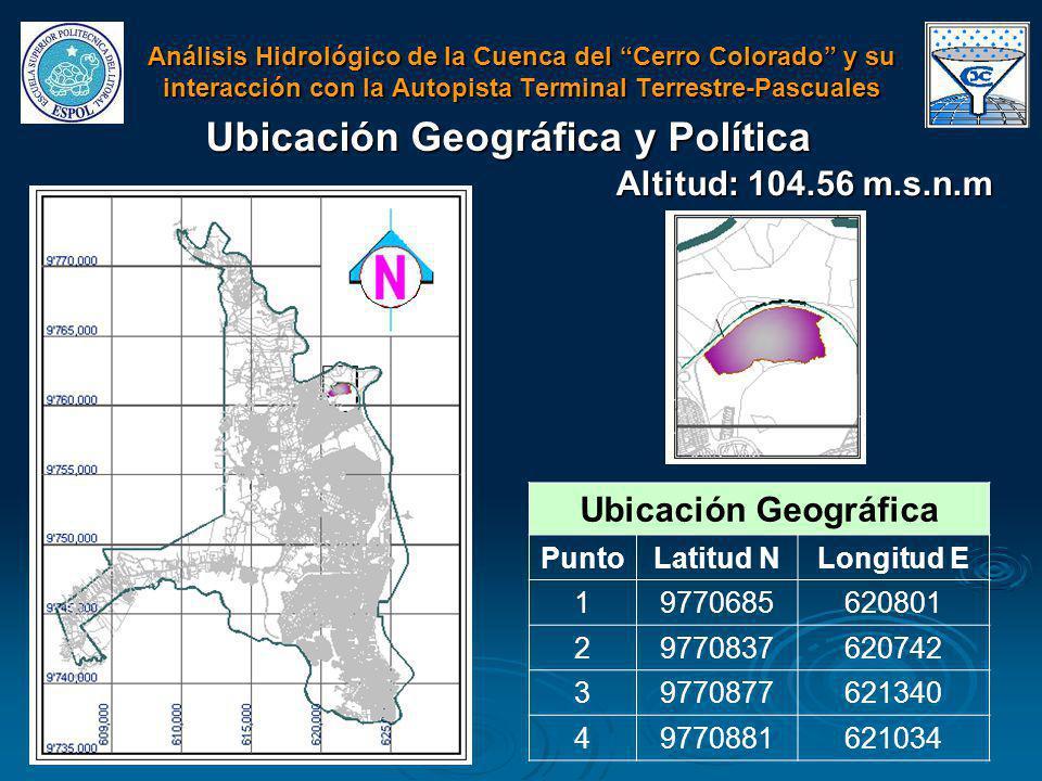 Ubicación Geográfica y Política Ubicación Geográfica PuntoLatitud NLongitud E 19770685620801 29770837620742 39770877621340 49770881621034 Altitud: 104