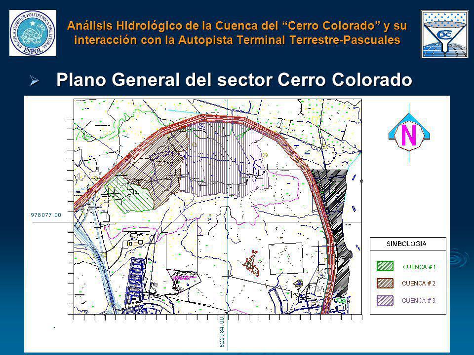 Plano General del sector Cerro Colorado Plano General del sector Cerro Colorado Análisis Hidrológico de la Cuenca del Cerro Colorado y su interacción