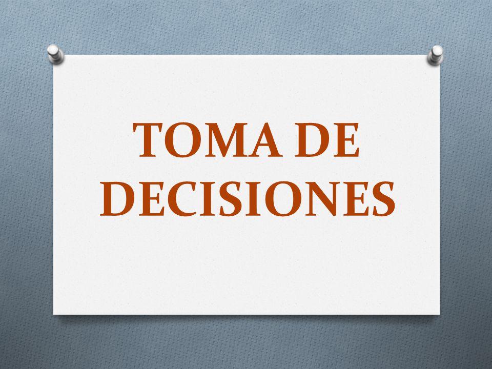 Los emprendedores son tomadores de decisiones, ya sea grandes o pequeñas Tomar decisiones correctas requiere contar con un profundo conocimiento y una amplia experiencia.