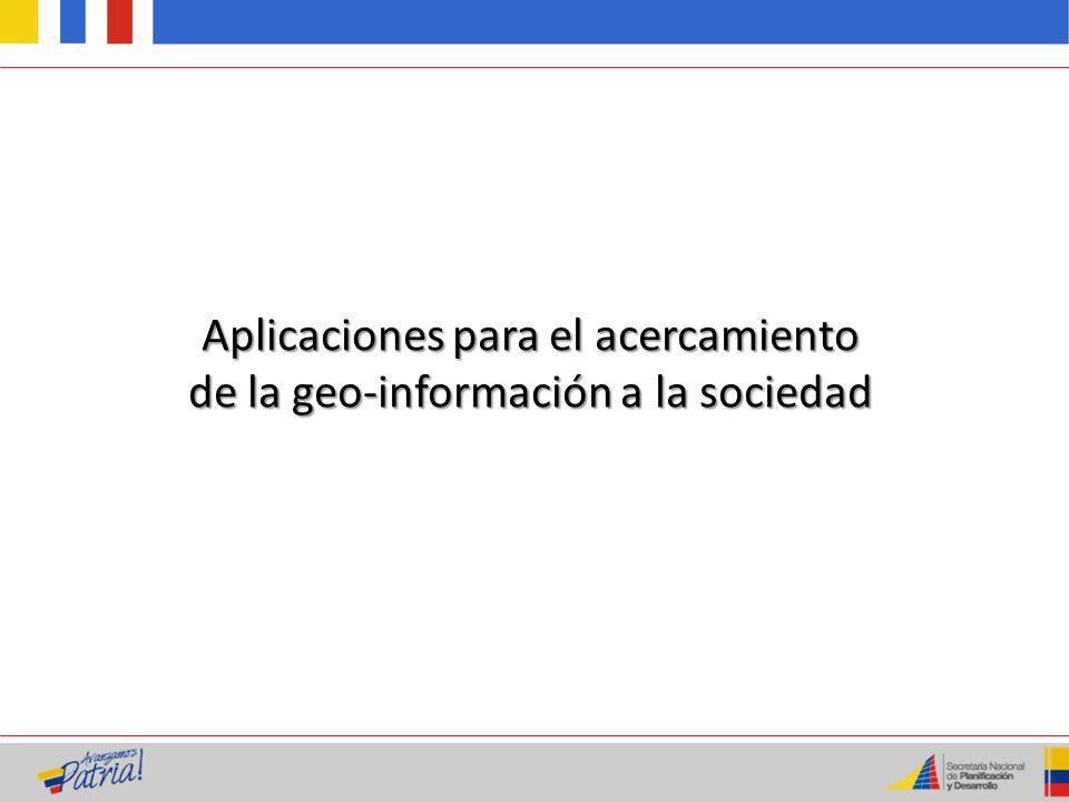 Objetivo: Facilita al usuario la búsqueda y descubrimiento de la información geoespacial disponible en las instituciones del Estado.