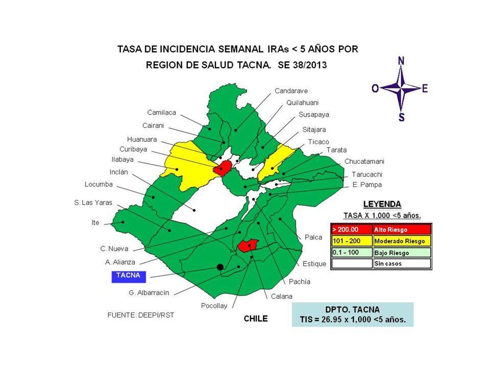 SALA SITUACIONAL DIRECCION REGIONAL DE SALUD- TACNA SE 38 2013 ( 15 al 21 de setiembre, 2013) Mayor información: epitacna@dge.gob.pe – Teléfono: 052-242595epitacna@dge.gob.pe DIRECCIÓN EJECUTIVA DE EPIDEMIOLOGÍA