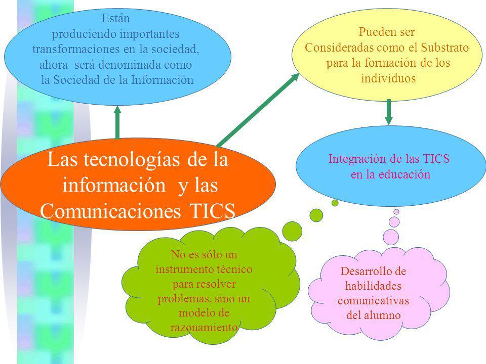 Las tecnologías de la información y las Comunicaciones TICS Están produciendo importantes transformaciones en la sociedad, ahora será denominada como