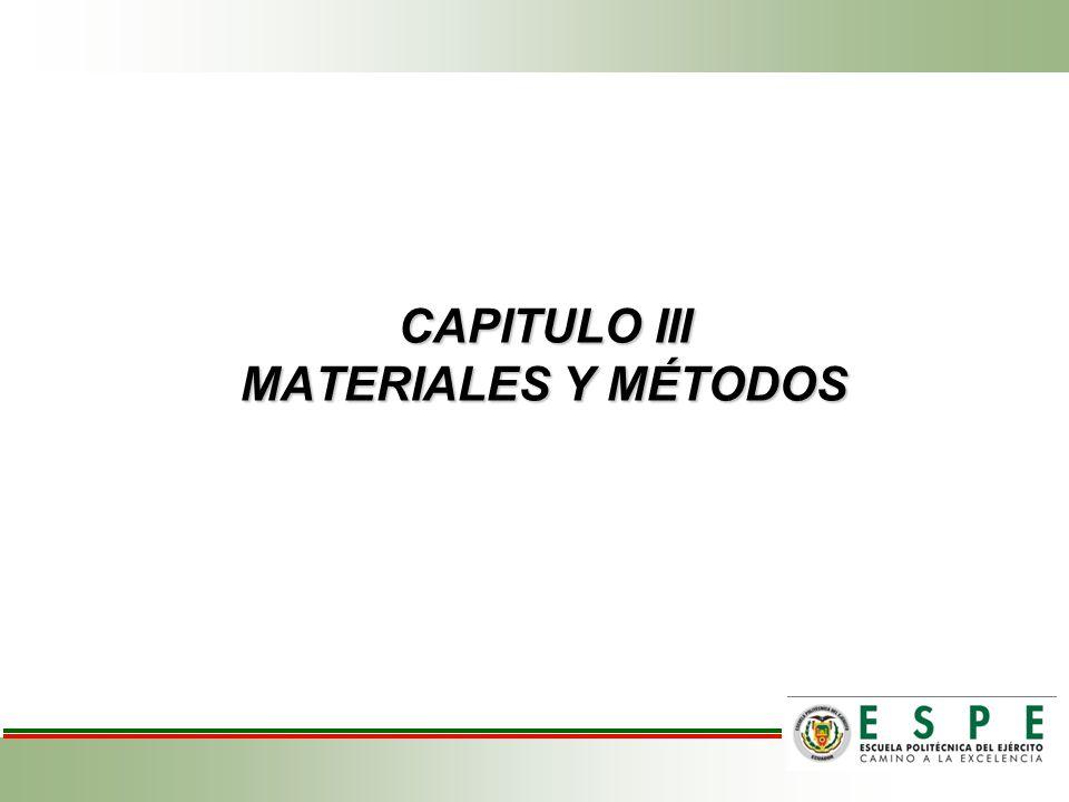 CAPITULO III MATERIALES Y MÉTODOS