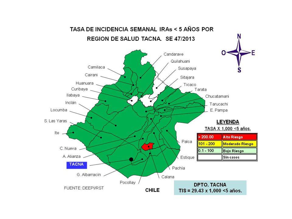 SALA SITUACIONAL DIRECCION REGIONAL DE SALUD- TACNA SE 47 2013 ( 17 al 23 de Noviembre 2013) Mayor información: epitacna@dge.gob.pe – Teléfono: 052-24