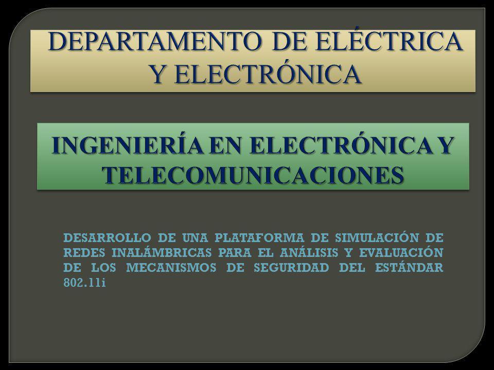 A Introducción, conceptos y funcionamiento de redes WLAN G Seguridad 802.11 E Topología de simulación N Funcionamiento AAA D Tramas A Conclusiones
