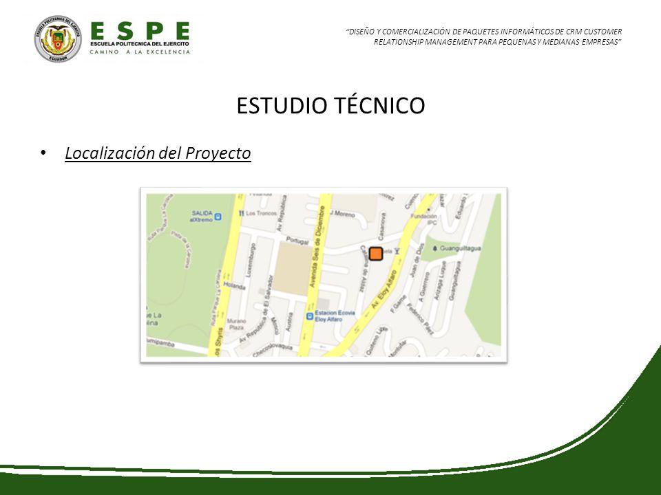 DISEÑO Y COMERCIALIZACIÓN DE PAQUETES INFORMÁTICOS DE CRM CUSTOMER RELATIONSHIP MANAGEMENT PARA PEQUENAS Y MEDIANAS EMPRESAS ESTUDIO TÉCNICO Localizac