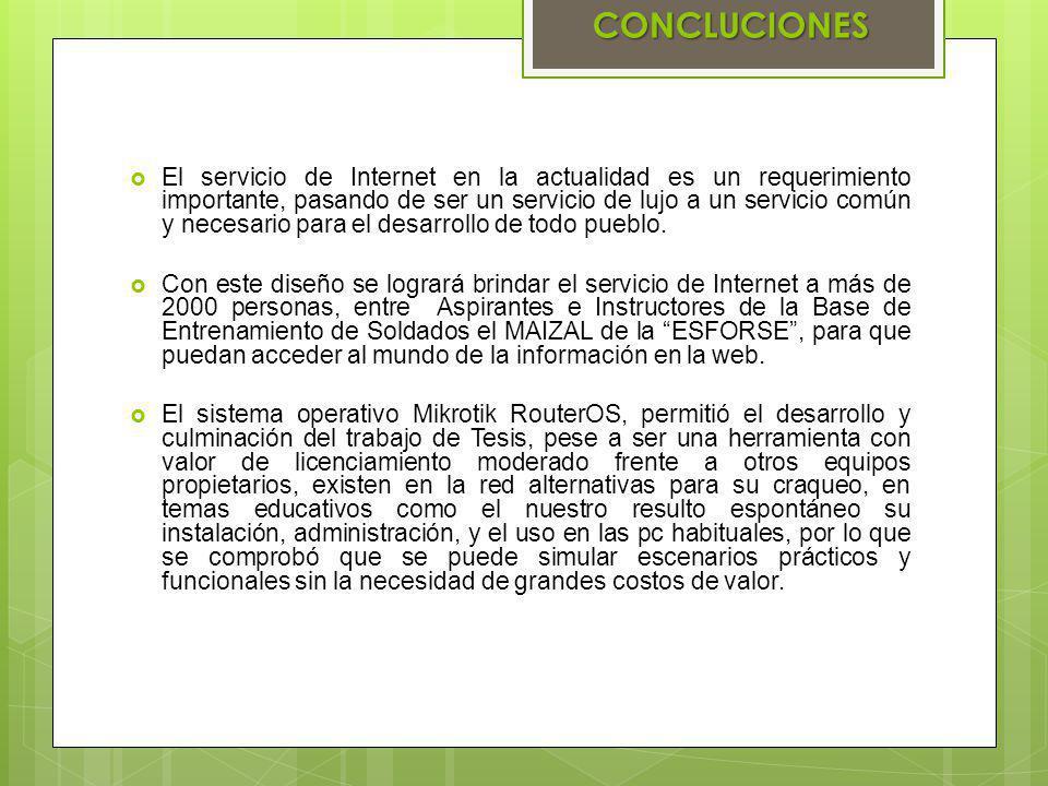 El servicio de Internet en la actualidad es un requerimiento importante, pasando de ser un servicio de lujo a un servicio común y necesario para el de