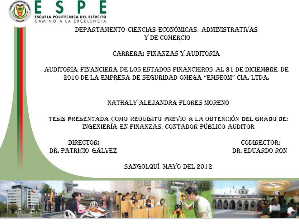 NATHALY ALEJANDRA FLORES MORENO Tesis presentada como requisito previo a la obtención del grado de: Ingeniería EN FINANZAS, CONTADOR PÚBLICO AUDITOR D