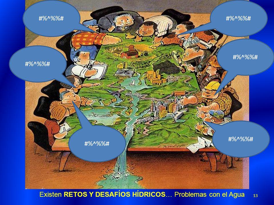 Existen RETOS Y DESAFÍOS HÍDRICOS… Problemas con el Agua #%^%# 13