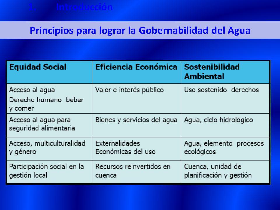 Principios para lograr la Gobernabilidad del Agua 1.Introducción