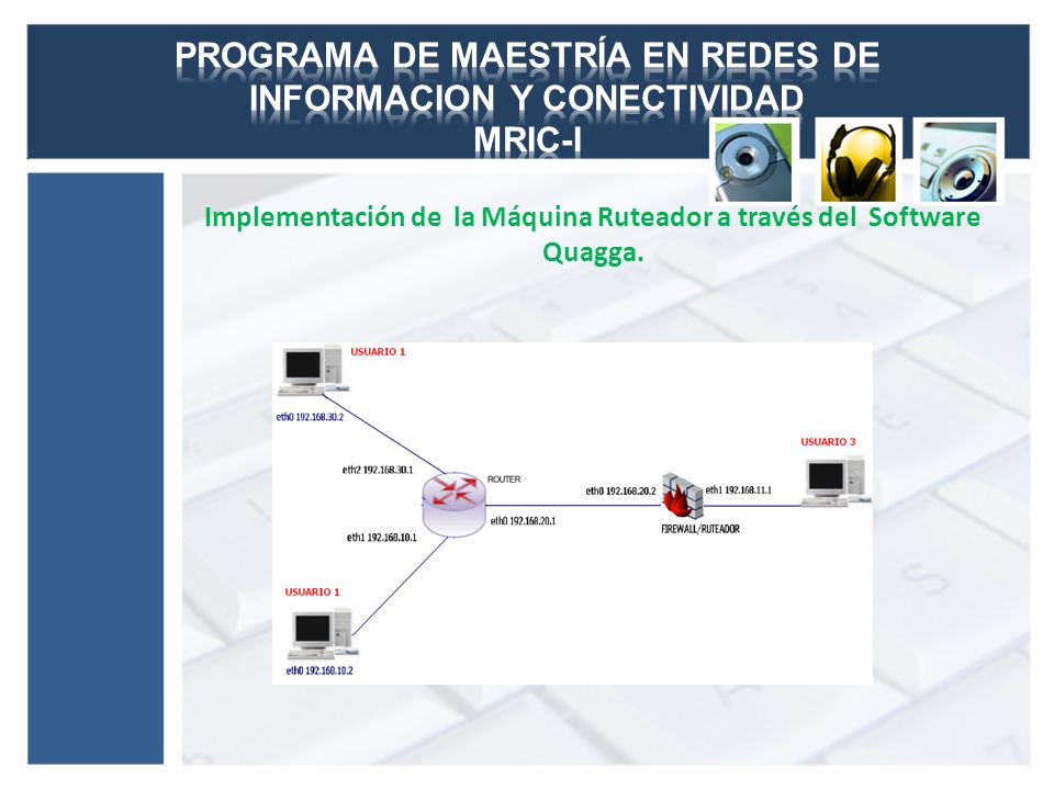 Implementación de la Máquina Ruteador a través del Software Quagga.