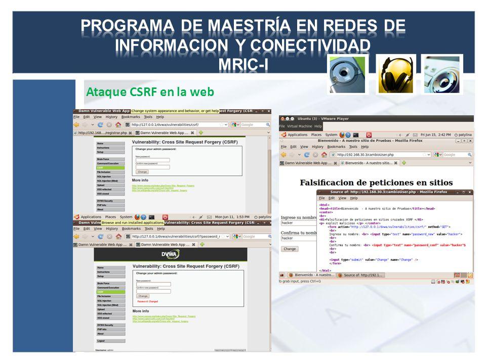 Ataque CSRF en la web
