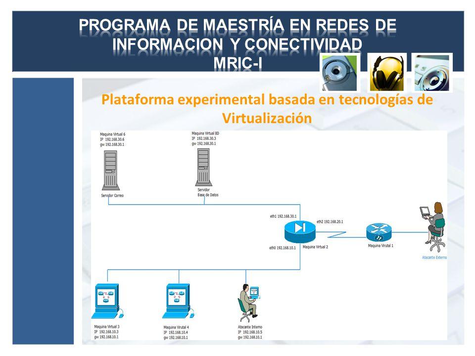 Plataforma experimental basada en tecnologías de Virtualización