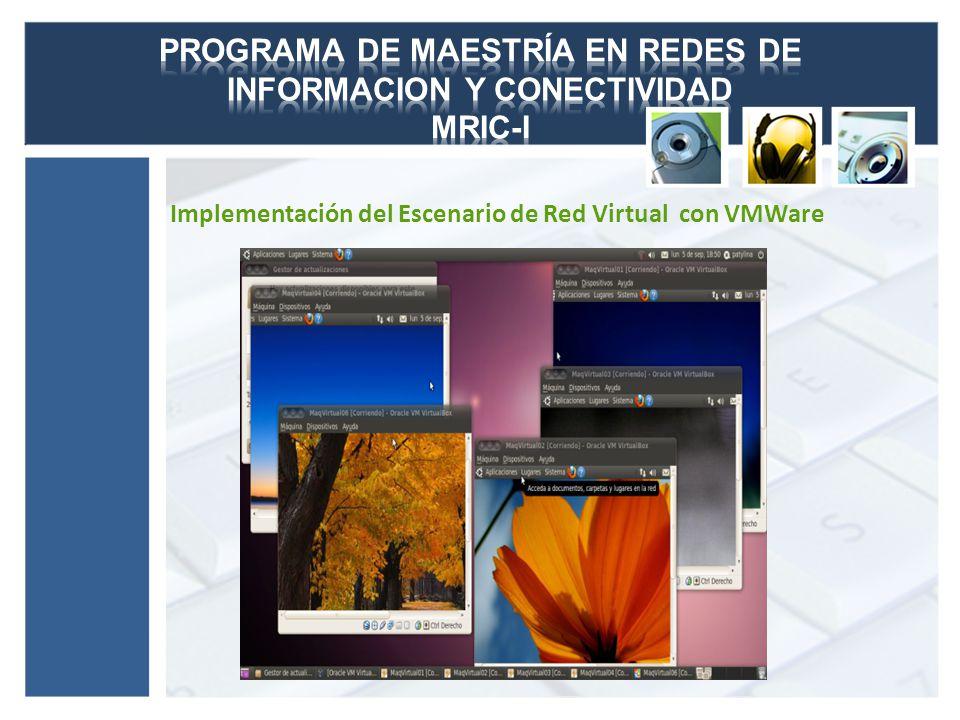 Implementación del Escenario de Red Virtual con VirtualBox