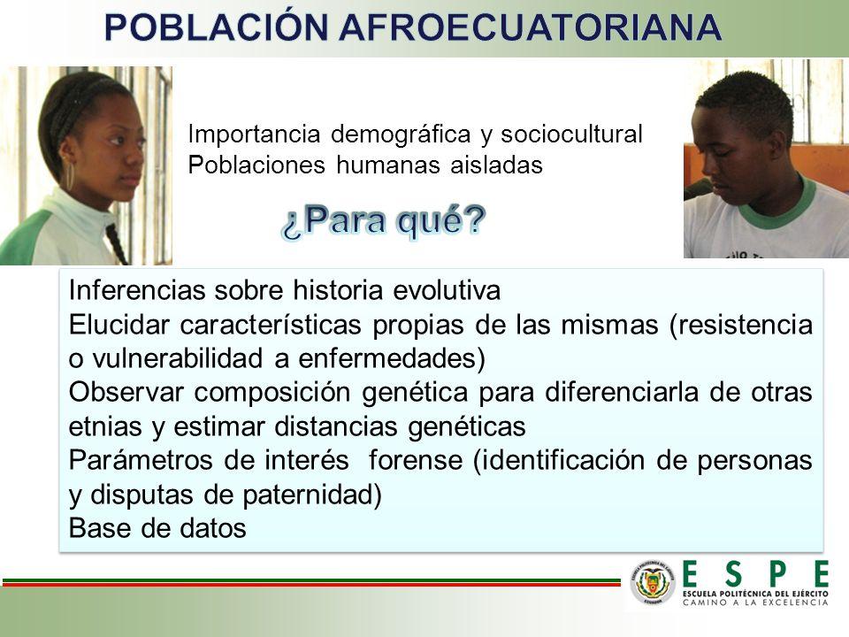 Inferencias sobre historia evolutiva Elucidar características propias de las mismas (resistencia o vulnerabilidad a enfermedades) Observar composición