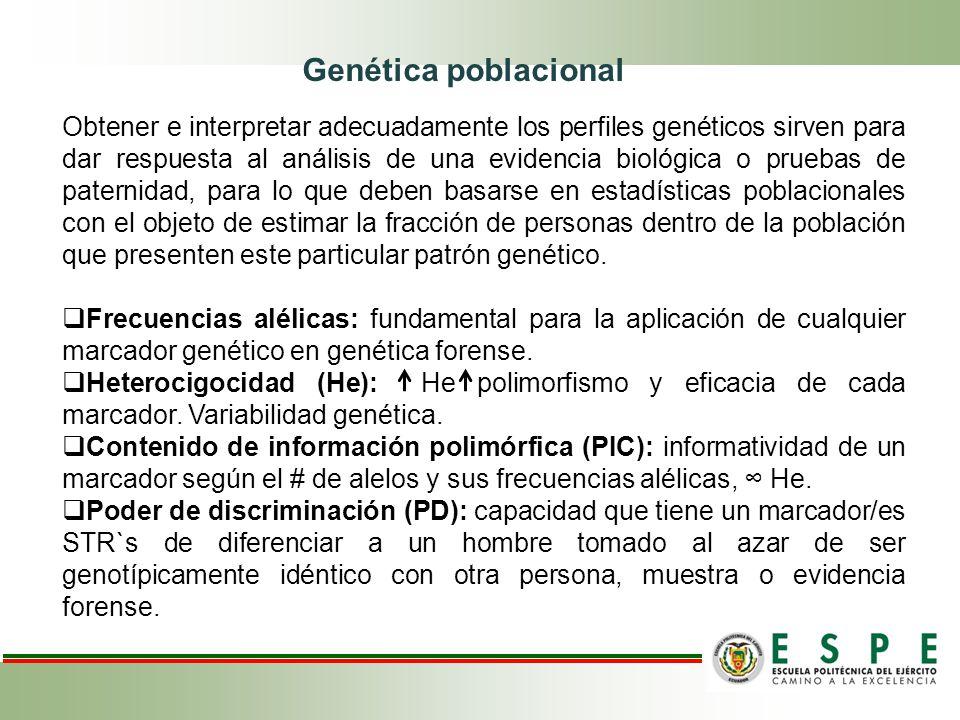 Obtener e interpretar adecuadamente los perfiles genéticos sirven para dar respuesta al análisis de una evidencia biológica o pruebas de paternidad, p
