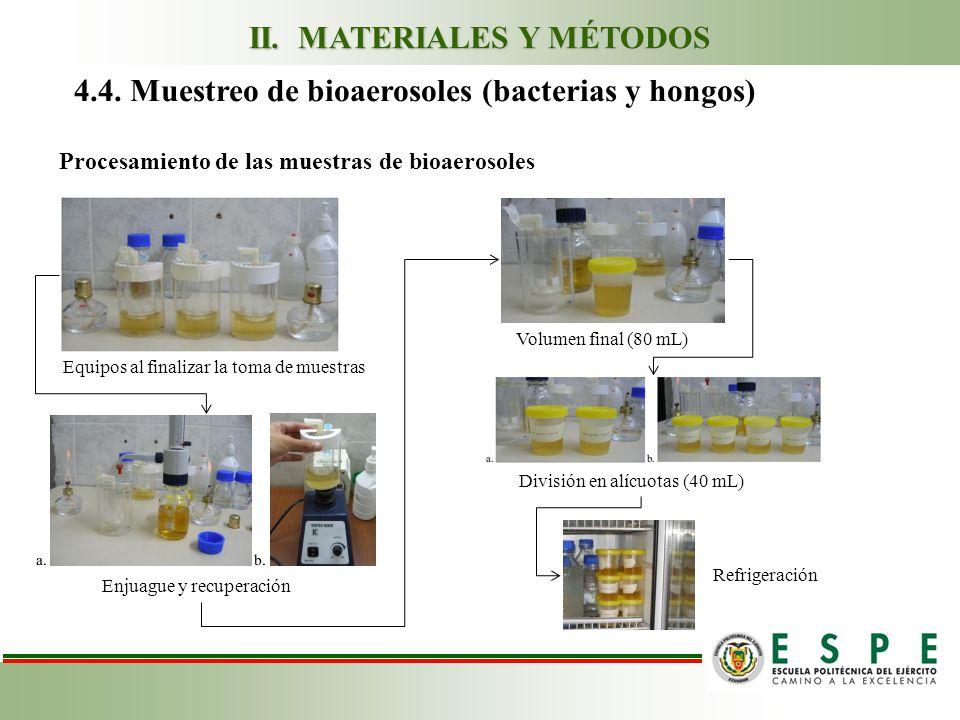 Procesamiento de las muestras de bioaerosoles 4.4.