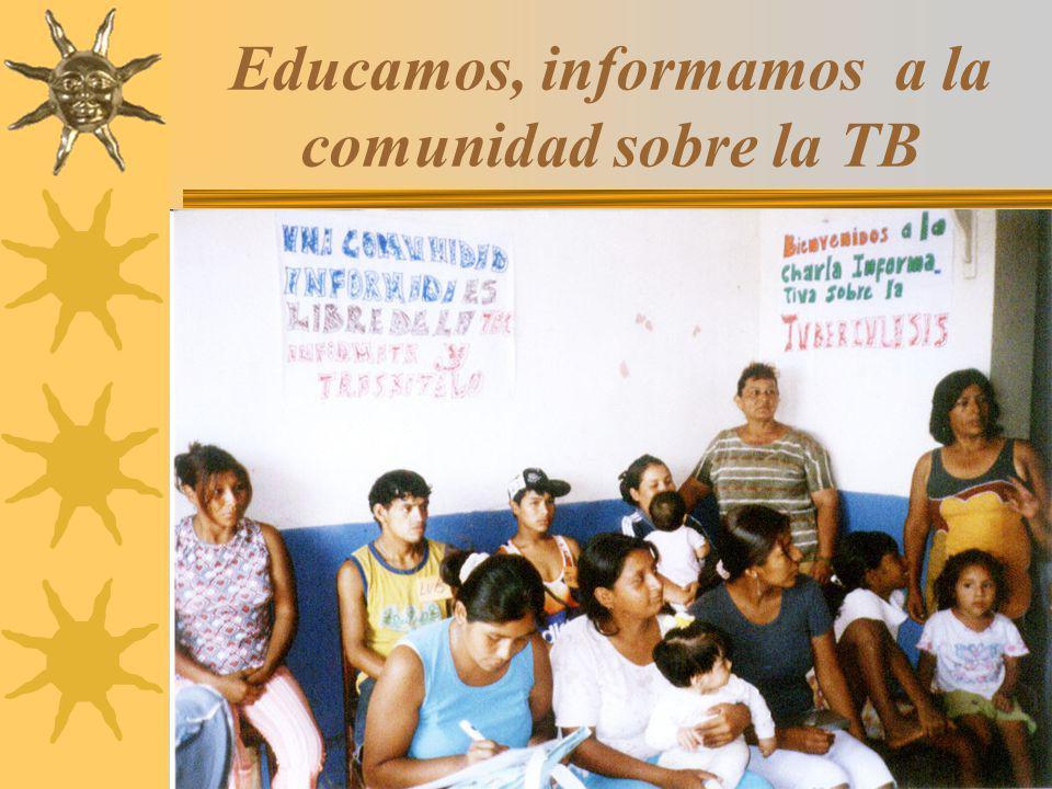 12 Educamos, informamos a la comunidad sobre la TB