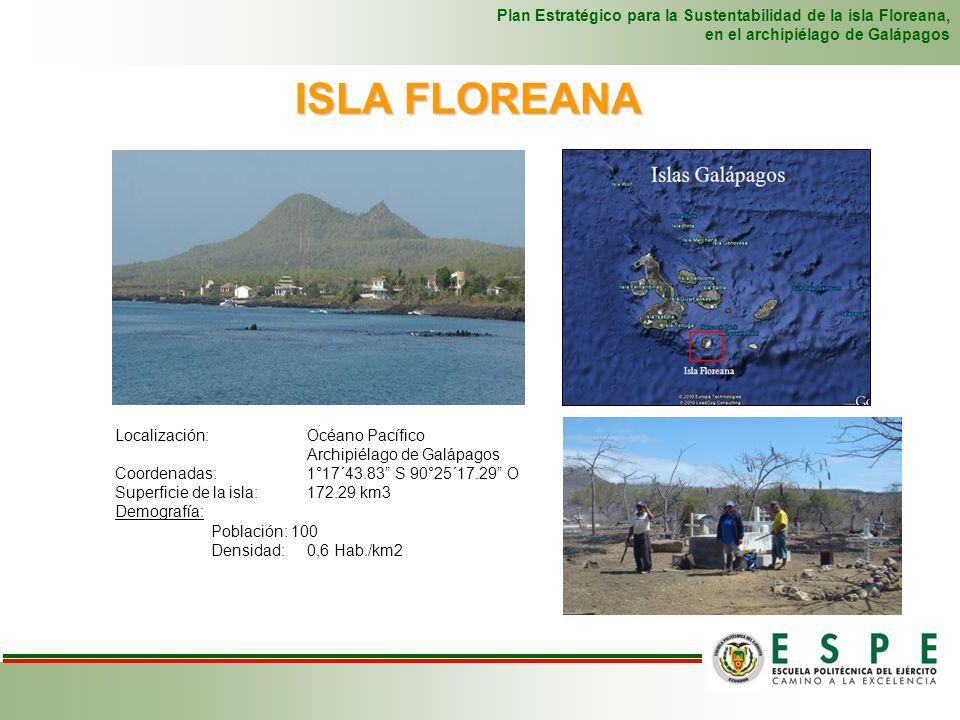 ISLA FLOREANA Plan Estratégico para la Sustentabilidad de la isla Floreana, en el archipiélago de Galápagos Localización: Océano Pacífico Archipiélago
