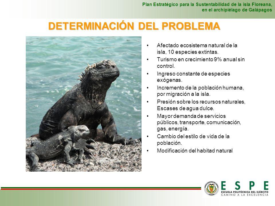 DETERMINACIÓN DEL PROBLEMA Plan Estratégico para la Sustentabilidad de la isla Floreana, en el archipiélago de Galápagos Afectado ecosistema natural d