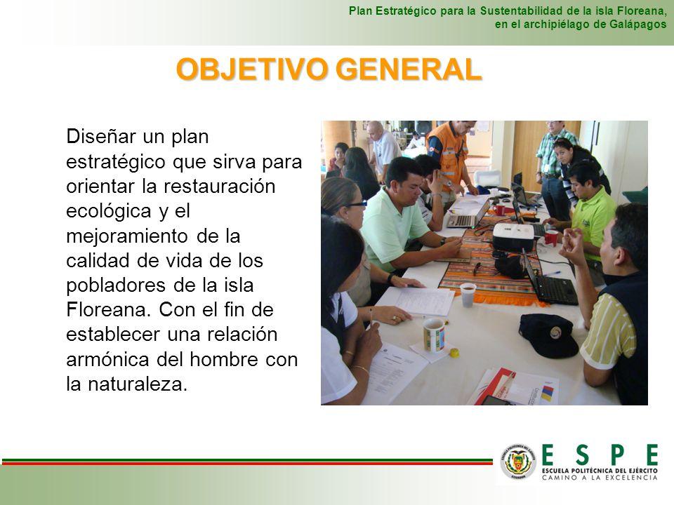 Diseñar un plan estratégico que sirva para orientar la restauración ecológica y el mejoramiento de la calidad de vida de los pobladores de la isla Flo