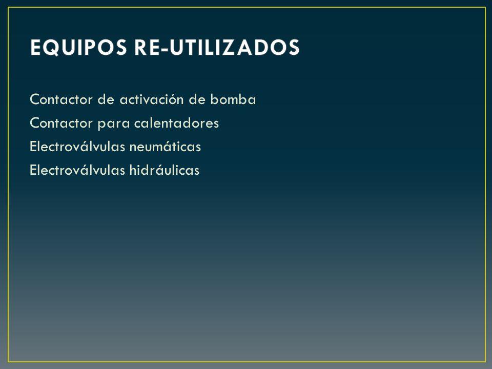 Contactor de activación de bomba Contactor para calentadores Electroválvulas neumáticas Electroválvulas hidráulicas