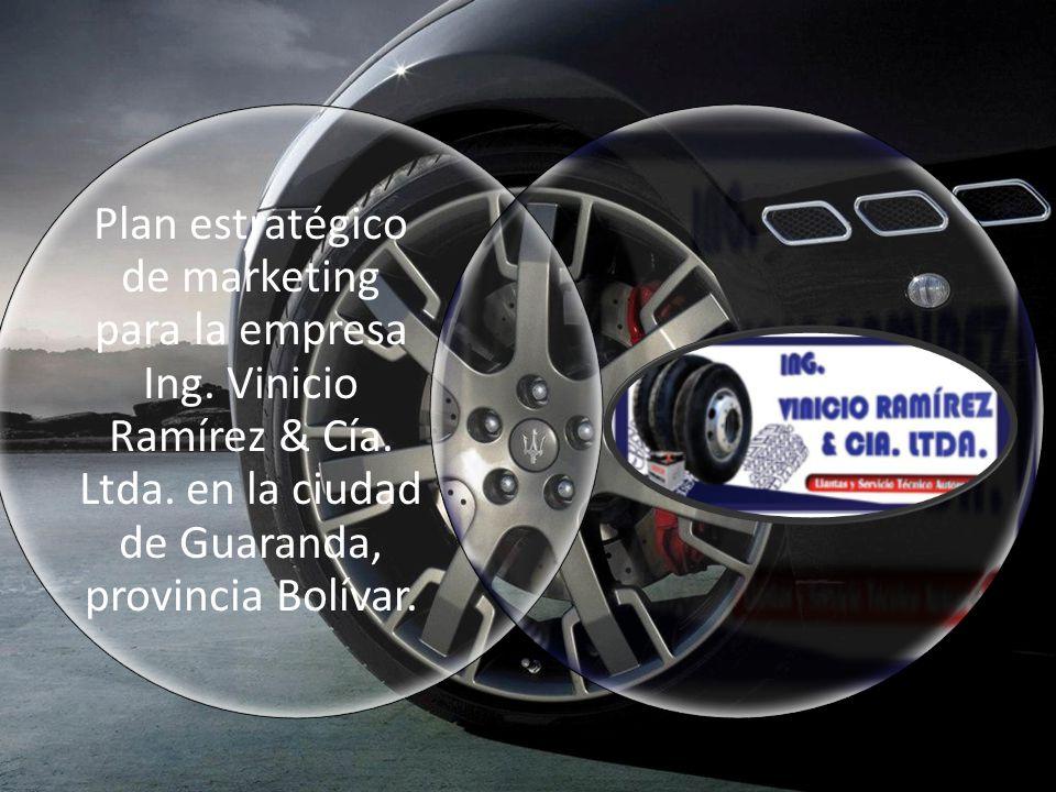 Plan estratégico de marketing para la empresa Ing. Vinicio Ramírez & Cía. Ltda. en la ciudad de Guaranda, provincia Bolívar.