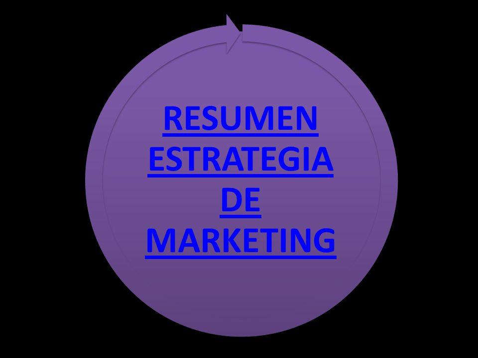 RESUMEN ESTRATEGIA DE MARKETING