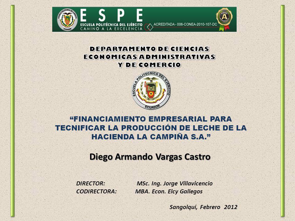 FINANCIAMIENTO EMPRESARIAL PARA TECNIFICAR LA PRODUCCIÓN DE LECHE DE LA HACIENDA LA CAMPIÑA S.A.