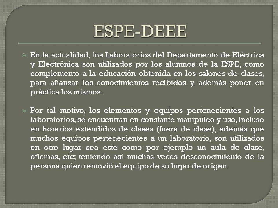 En la actualidad, los Laboratorios del Departamento de Eléctrica y Electrónica son utilizados por los alumnos de la ESPE, como complemento a la educac
