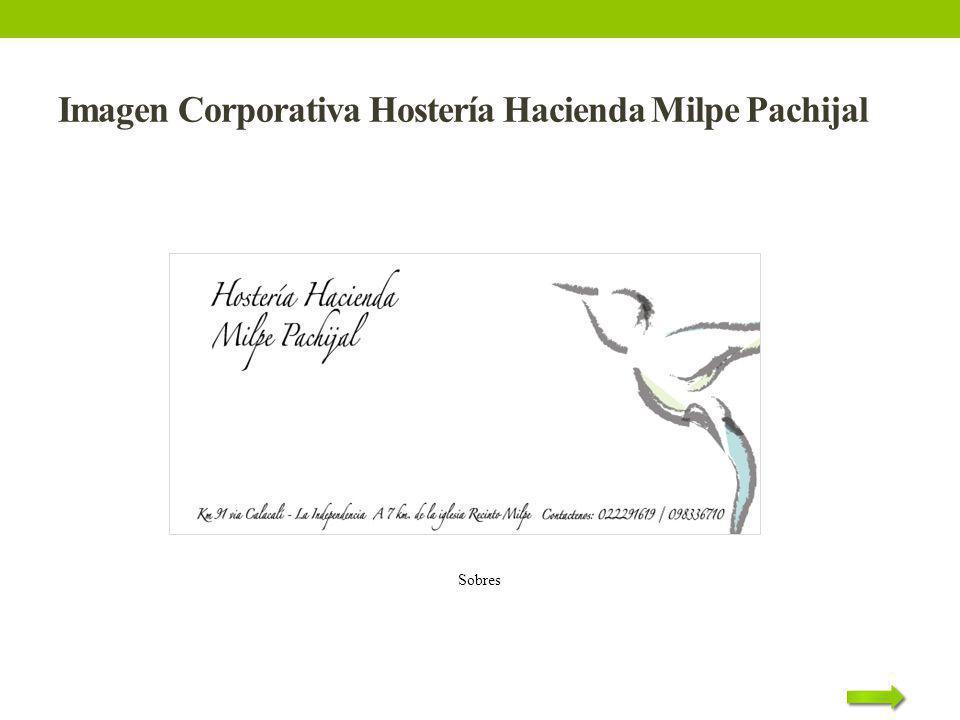 Imagen Corporativa Hostería Hacienda Milpe Pachijal Sobres