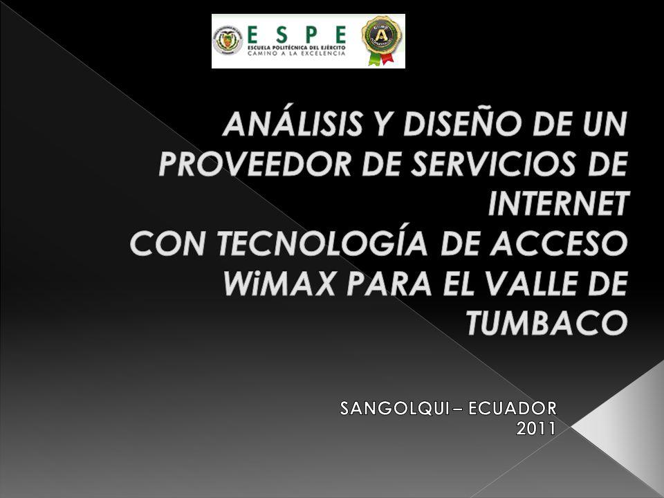 Después de haber investigado las posibles soluciones para el Sector de Tumbaco, podemos decir que la factibilidad de implementación del sistema WiMAX es totalmente viable.