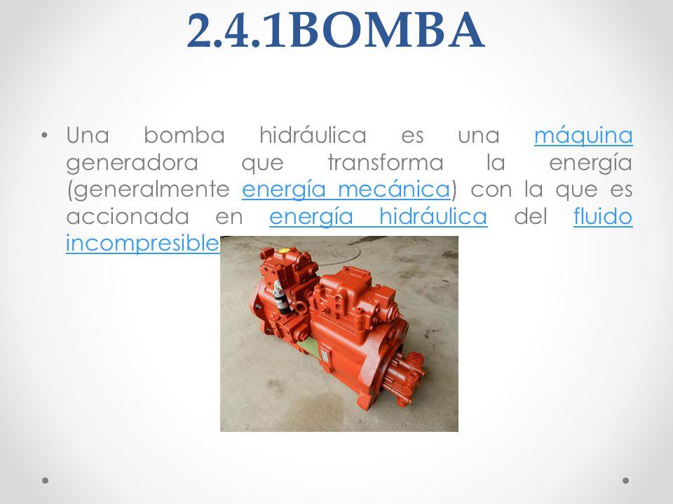 2.4.2CONTROL DE PRESIÓN Y CAUDAL Constituido en este caso por las válvulas limitadora de presión y la válvula distribuidora 4/3.