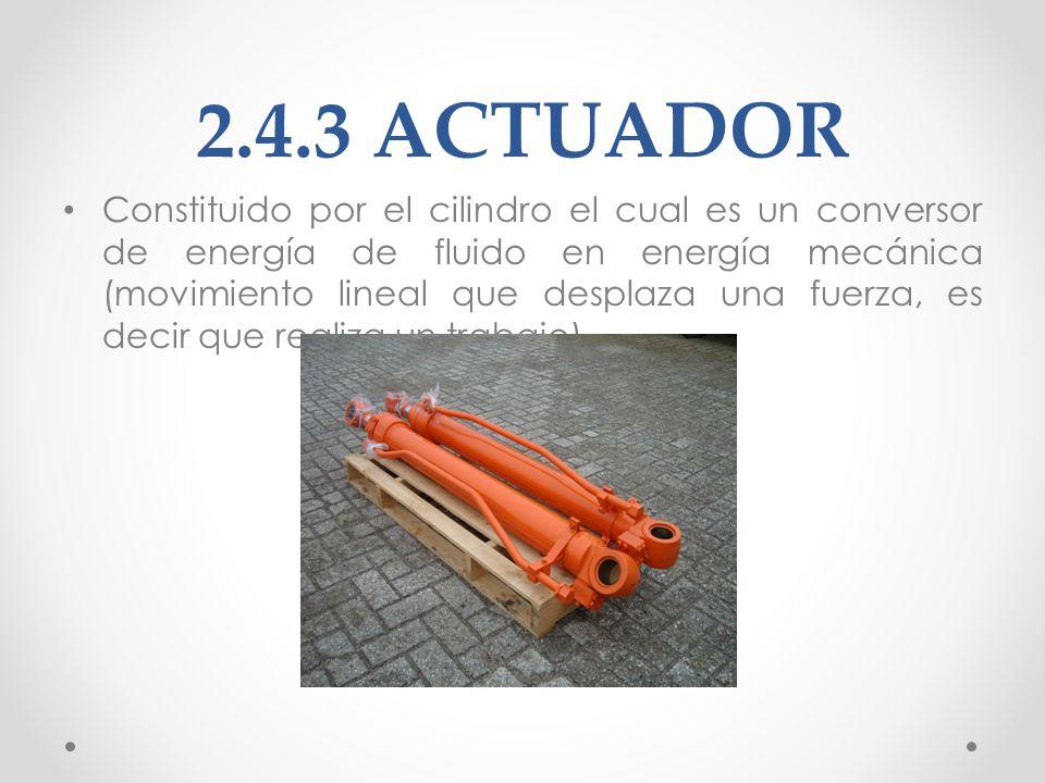 2.4.4 TANQUE DE ACEITE HIDRÁULICO El depósito, o más comúnmente llamado tanque, cumple diferentes funciones.