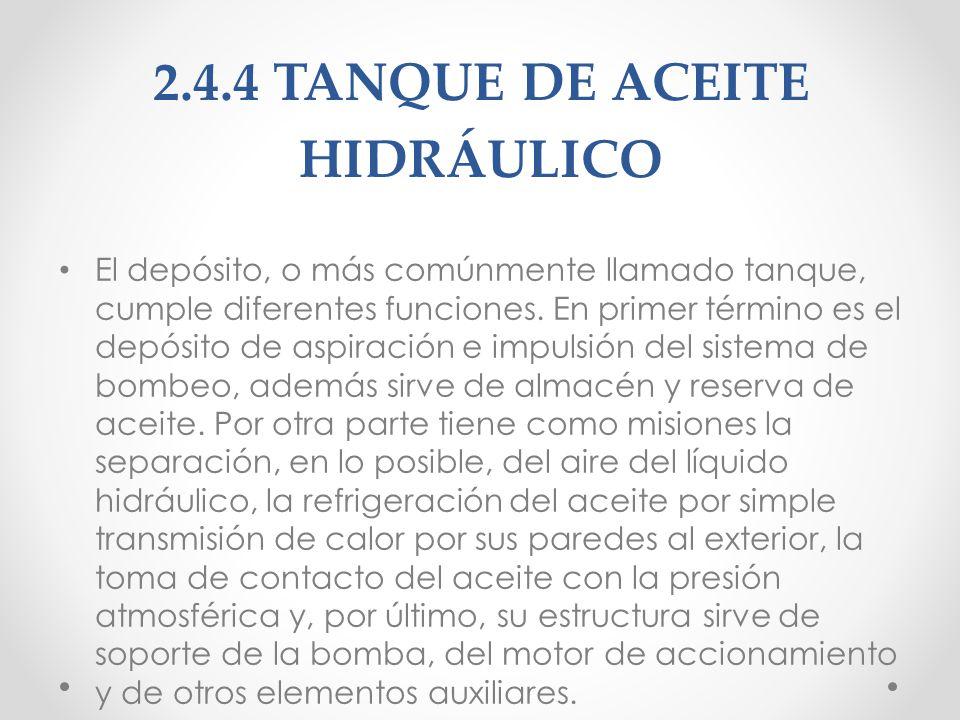 2.5 FILTROS DE ACEITE HIDRÁULICO Un filtro hidráulico es el componente principal del sistema de filtración de una máquina hidráulica, de lubricación o de engrase.