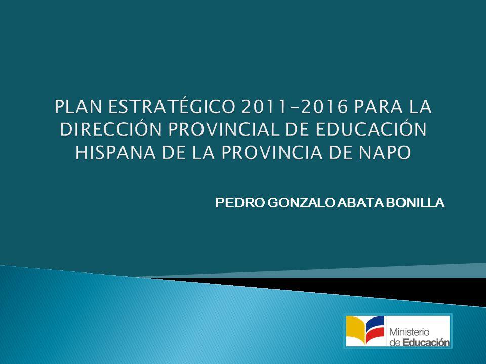 OBJETIVO ESTRATÉGICO 7 Mejorar el clima organizacional de la Dirección de Educación de Napo.