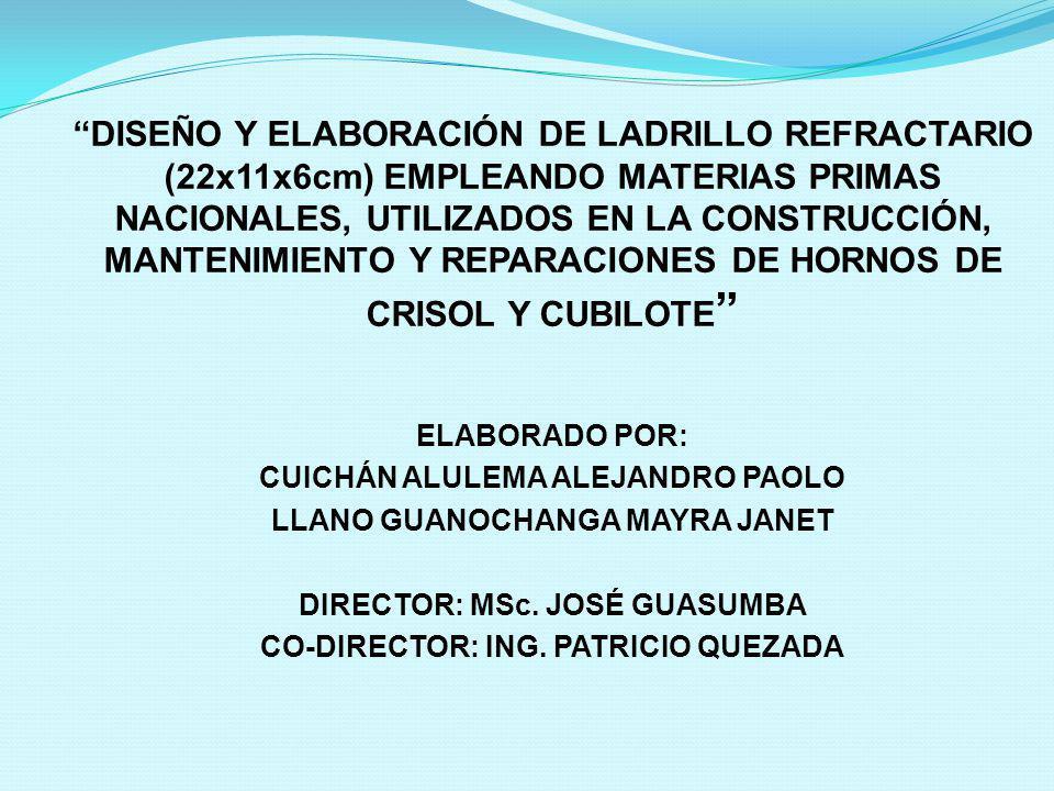 ELABORADO POR: CUICHÁN ALULEMA ALEJANDRO PAOLO LLANO GUANOCHANGA MAYRA JANET DIRECTOR: MSc. JOSÉ GUASUMBA CO-DIRECTOR: ING. PATRICIO QUEZADA DISEÑO Y