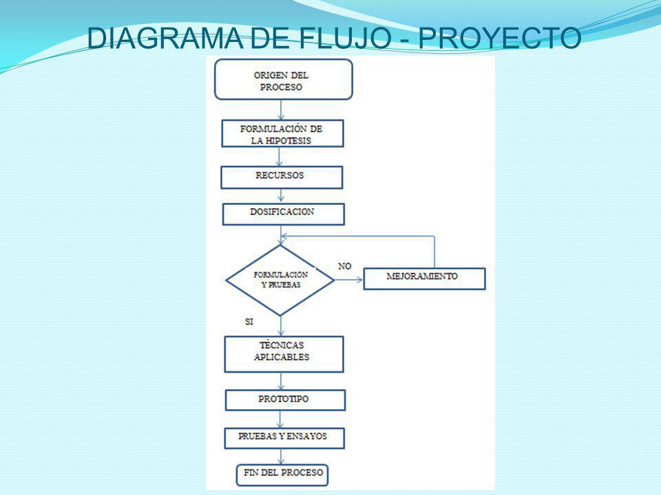 DIAGRAMA DE FLUJO - PROYECTO