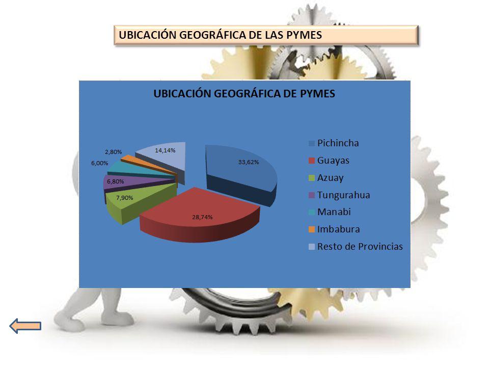 UBICACIÓN GEOGRÁFICA DE LAS PYMES