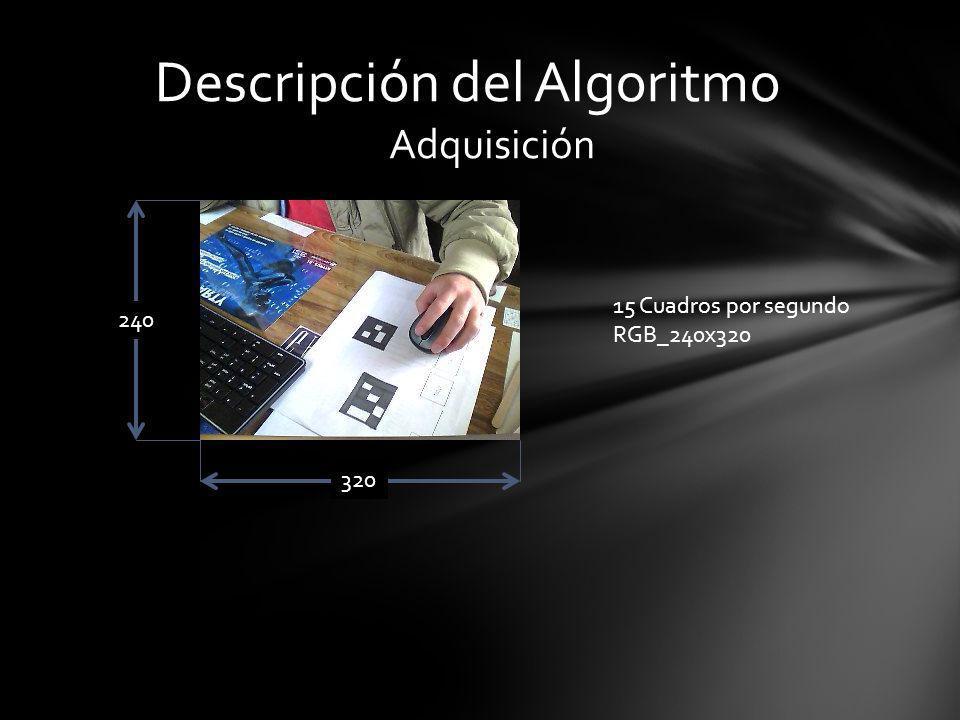 Adquisición 240 320 15 Cuadros por segundo RGB_240x320 Descripción del Algoritmo