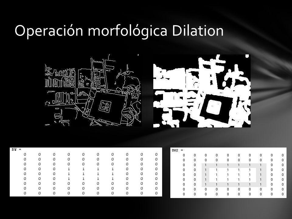 Operación morfológica Dilation