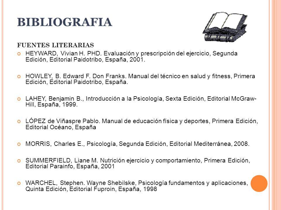 BIBLIOGRAFIA FUENTES LITERARIAS HEYWARD, Vivian H.