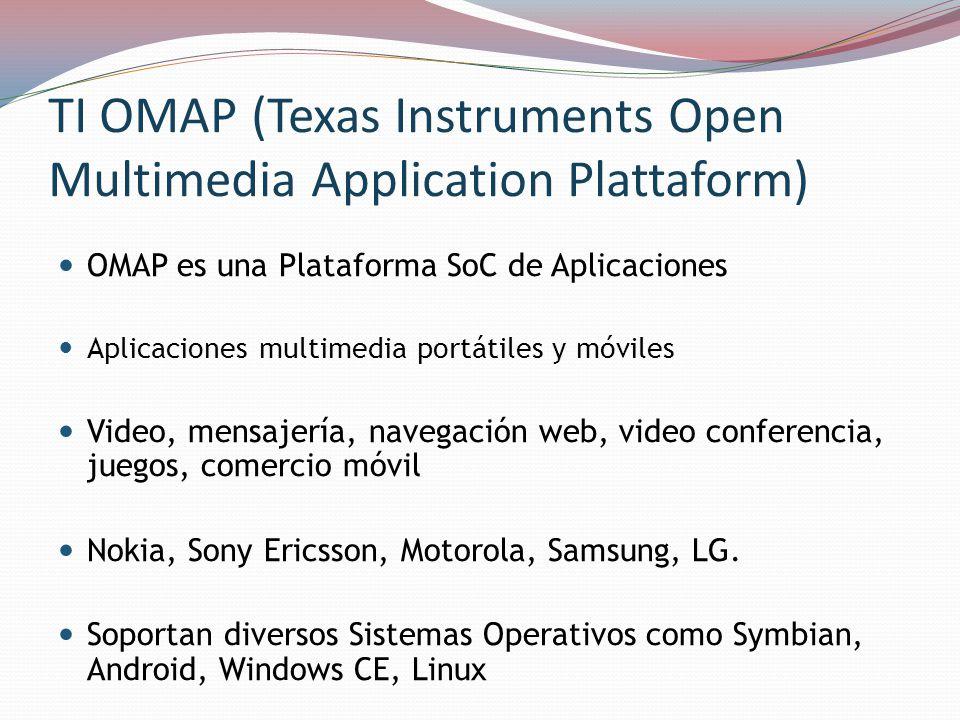 OMAP3530 Es un procesador de aplicaciones de alto rendimiento, de la familia OMAP3, diseñado para ofrecer el mejor vídeo en su clase, imagen y de procesamiento de gráficos Procesador RISC ARM ® CortexTM-A8 Subsistema IVA2.2 con C64x + un Procesador de Señales Digitales (DSP) Subsistema de aceleración gráfica SGX en 2D y 3D