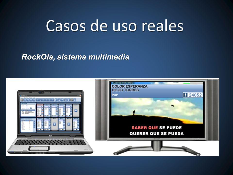 RockOla, sistema multimedia Casos de uso reales