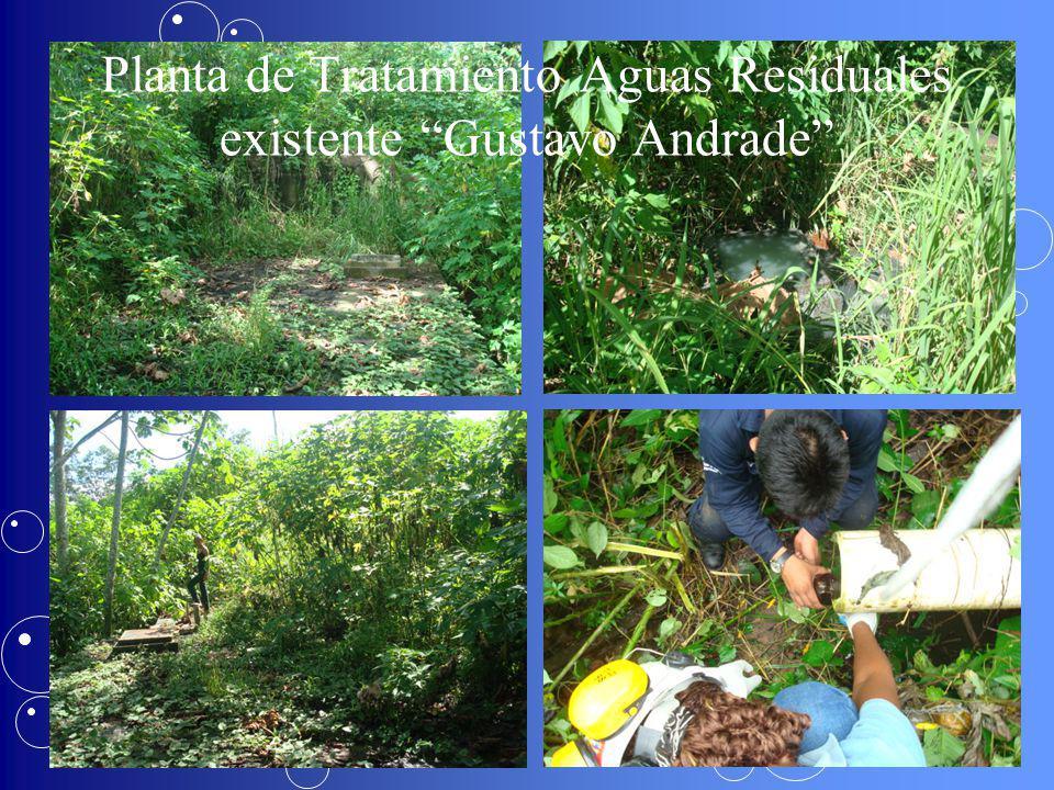 Planta de Tratamiento Aguas Residuales existente Gustavo Andrade