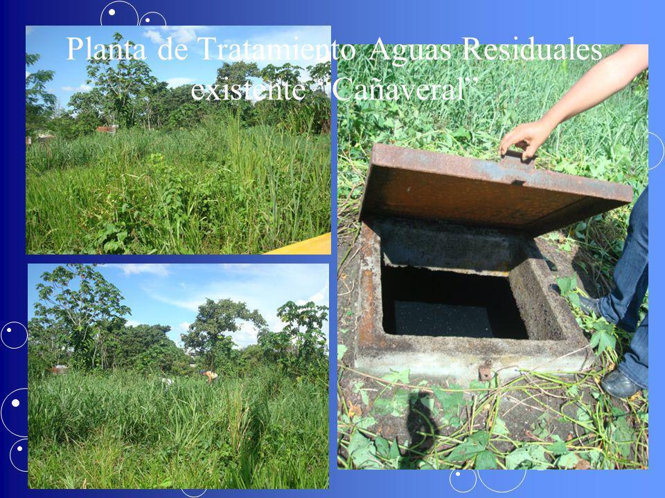 Planta de Tratamiento Aguas Residuales existente Cañaveral
