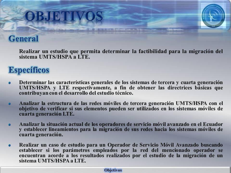 Tecnologías Móviles UMTS y LTE Conceptos básicos Factibilidad para la migración de la tecnología Móvil UMTS/HSPA a la tecnología LTE.