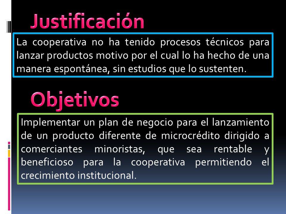 La cooperativa no ha tenido procesos técnicos para lanzar productos motivo por el cual lo ha hecho de una manera espontánea, sin estudios que lo suste
