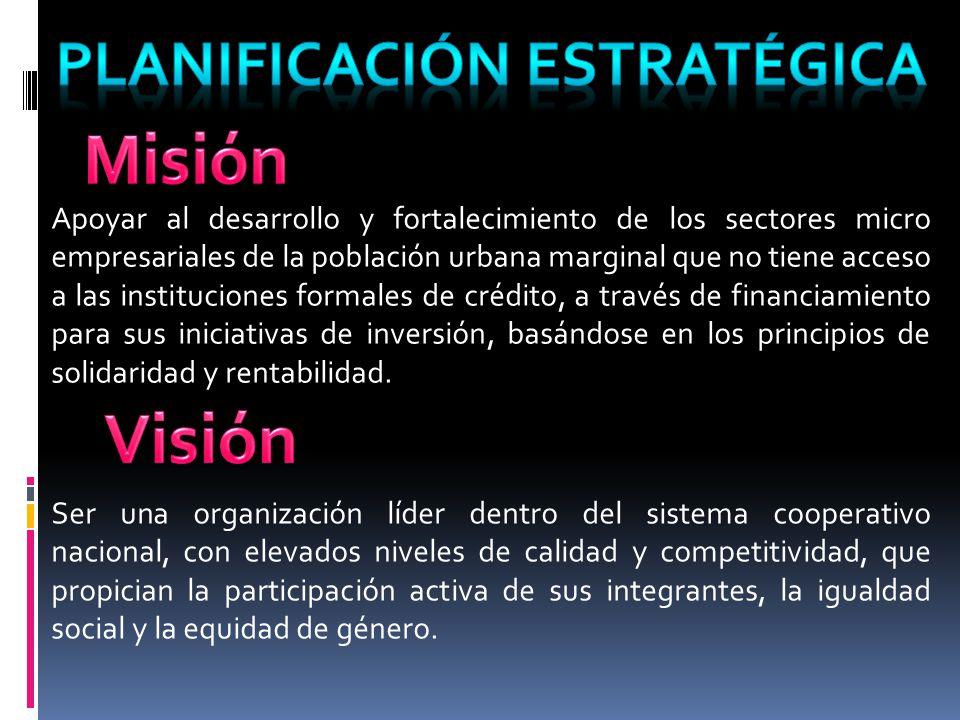 Apoyar al desarrollo y fortalecimiento de los sectores micro empresariales de la población urbana marginal que no tiene acceso a las instituciones for
