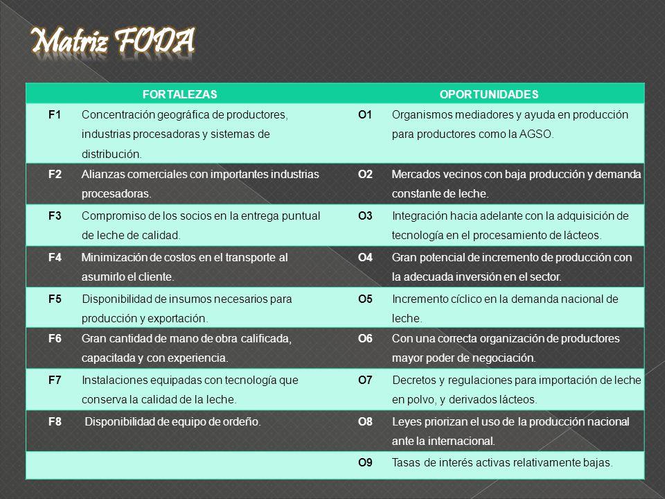 FORTALEZASOPORTUNIDADES F1 Concentración geográfica de productores, industrias procesadoras y sistemas de distribución.